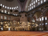 Interior of Suleymaniye Mosque, Istanbul, Turkey Photographic Print by Ben Pipe