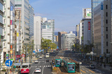 Trams and Traffic, Hiroshima, Hiroshima Prefecture, Japan Photographic Print by Ian Trower