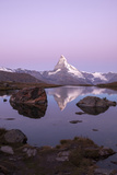 The Matterhorn Reflected in the Stellisee at Dusk Photographic Print by Roberto Moiola