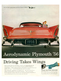 Aerodynamic Plymouth '56 Posters
