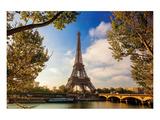 Eiffel Tower & Seine Bridge Prints