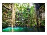 Falls Near Chichen Itza Mexico Prints