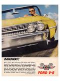 Ford 1961 Gangway V8 Poster