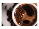 Coffee Crema in White Cup Posters