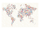 Electronics World Map Prints