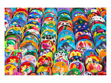 Colorful Mexican Ceramic Bowls Posters