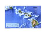 1995 Hawaii Map Metal Print