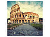 Colosseum Ruins Rome Italy Posters