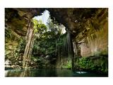 Cenote Falls Chichen Itza Mexico Print