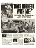 Dodge Ad With Joe Dimaggio Prints