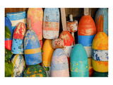 Colorful Lobster Floats Buoys Prints