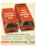 Ford 1965 Two Economy Vans Posters