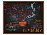 Coffee Shop Blackboard Ad Prints