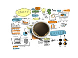 Coffee Cup & Business Strategy Print