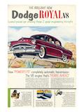 Brilliant Dodge Royal V8 Posters