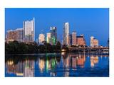 Austin Dusk Skyline Reflection Posters