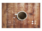 Coffee Cup And Business Plan Prints