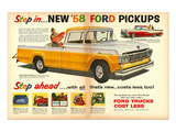 Ford 1958 New `58 Pickups Prints