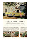Chrysler It Pays to Own Dodge Affiche