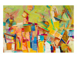 Abstract Colorful Oil Canvas Posters