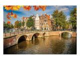 Canal Gracht Bridges Amsterdam Poster
