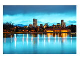 Downtown Denver Colorado Dusk Prints