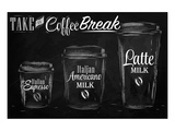 Coffee Break Blackboard Poster