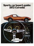 Buyer's Guide 1972 GM Corvette Posters