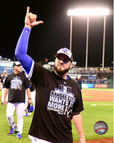 Mike Moustakas celebrates winning Game 5 of the 2015 American League Division Series Photo