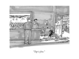 """Tap is fine."" - New Yorker Cartoon Premium Giclee Print by Michael Crawford"