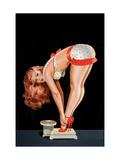 Wink Magazine, på en vægt Plakat af Peter Driben