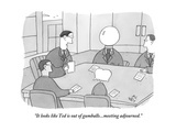 """""""It looks like Ted is out of gumballs...meeting adjourned."""" - New Yorker Cartoon Premium Giclee Print by Peter C. Vey"""