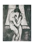The Kiss, 1895 Metalldrucke von Edvard Munch