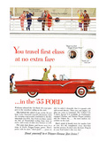 Ford 1955 - Travel First Class Affiche