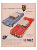 Ford 1958-A Lot of Thunderbird Lámina