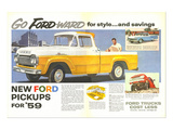 Ford 1959 Go Forward for Style Póster