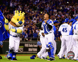 Salvador Perez celebrates winning Game 5 of the 2015 American League Division Series Photo