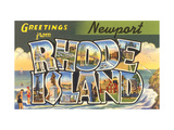 Greetings from Newport, Rhode Island Metal Print
