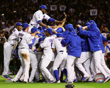 The Chicago Cubs celebrate winning Game 4 of the 2015 National League Division Series Photo