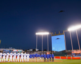 League Championship - Toronto Blue Jays v Kansas City Royals - Game One Photo by Jamie Squire