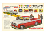 Ford 1958 `58 Ford Pickups Affiche