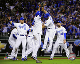 The Kansas City Royals celebrate winning Game 5 of the 2015 American League Division Series Photo