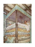 The Princess and the Pea Metal Print by Edmund Dulac