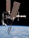 Space Shuttle Endeavor Docked to the International Space Station Alu-Dibond