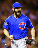 Jake Arrieta celebrates winning the 2015 National League Wild Card Game Photo