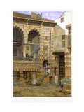 Courtyard, Al Hosh, in the House of Shiekh Sadat, Cairo, 1873 Metal Print by Frank Dillon