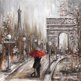 Rainy Embrace by the Arc Print by Marilyn Dunlap
