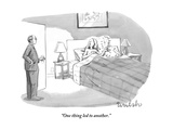 """One thing led to another."" - New Yorker Cartoon Premium Giclee Print by Liam Walsh"