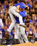 Jake Arrieta & Anthony Rizzo celebrate winning the 2015 National League Wild Card Game Photo