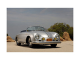1958 Porsche Speedster 356 1600 Super Metal Print by S. Clay